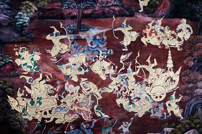 Fresque de Ramakien