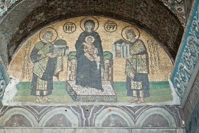 Mosaïque de la Vierge et l'Enfant